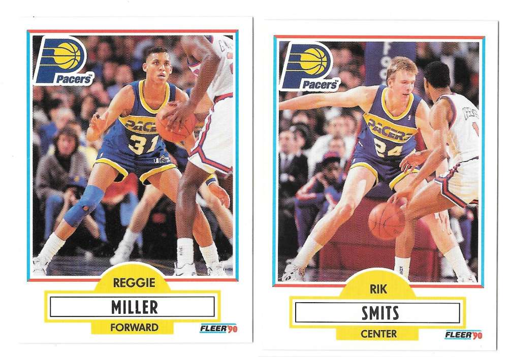 1990-91 Fleer Basketball Team Set - Indiana Pacers