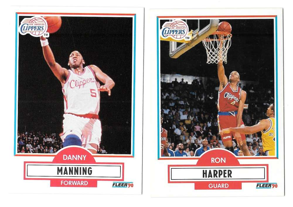 1990-91 Fleer Basketball Team Set - Los Angeles Clippers