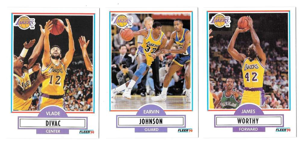 1990-91 Fleer Basketball Team Set - Los Angeles Lakers