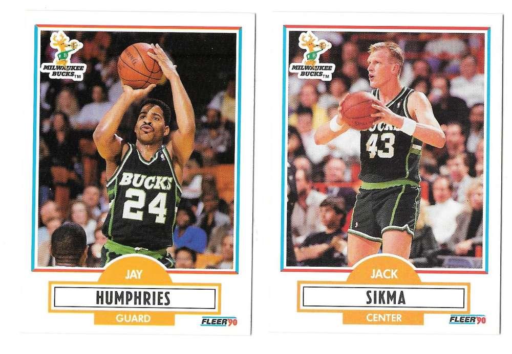 1990-91 Fleer Basketball Team Set - Milwaukee Bucks