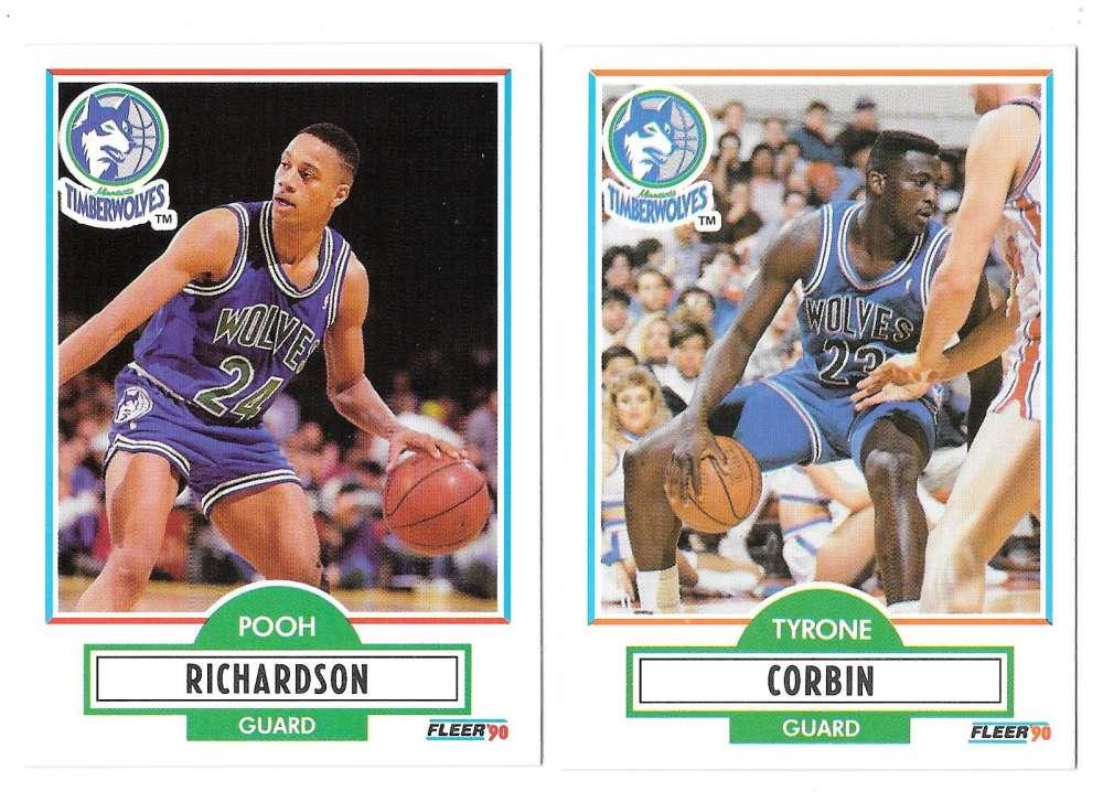 1990-91 Fleer Basketball Team Set - Minnesota Timberwolves