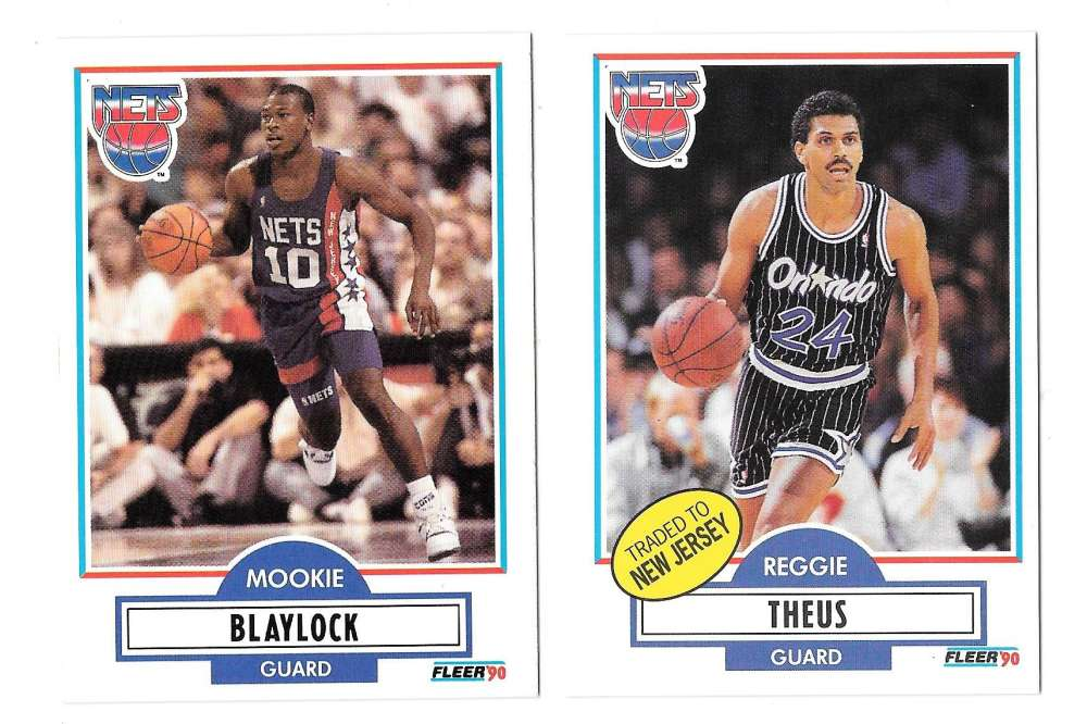 1990-91 Fleer Basketball Team Set - New Jersey Nets