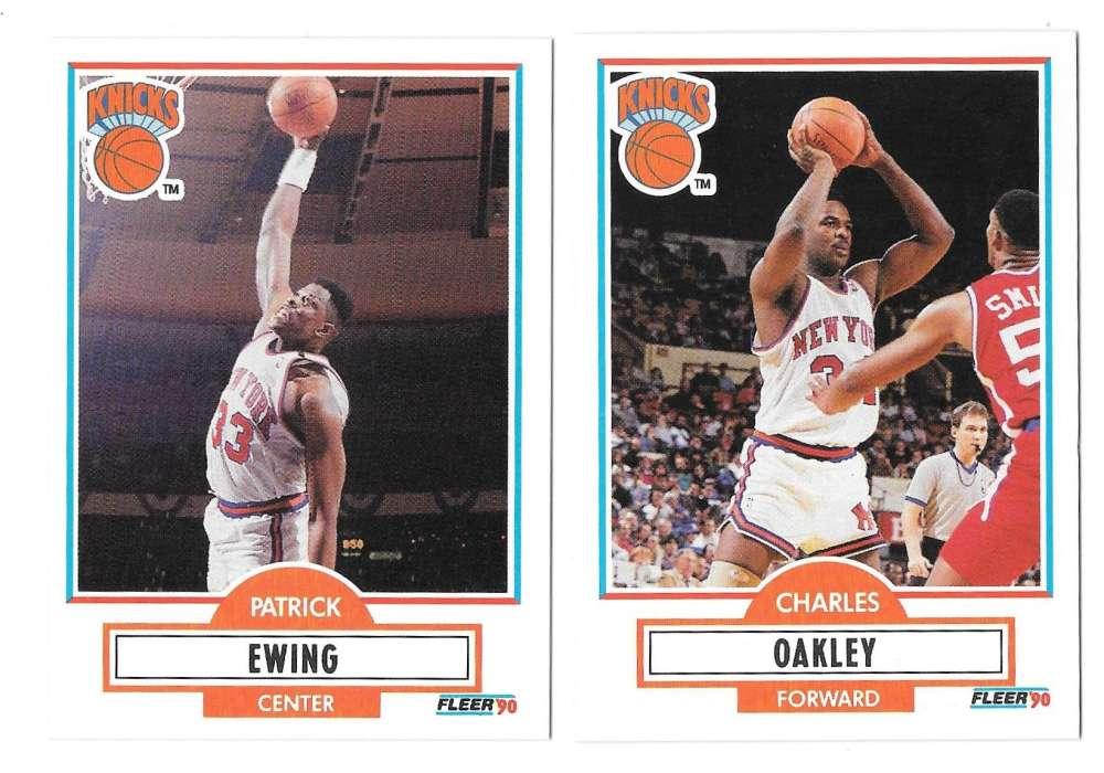 1990-91 Fleer Basketball Team Set - New York Knicks