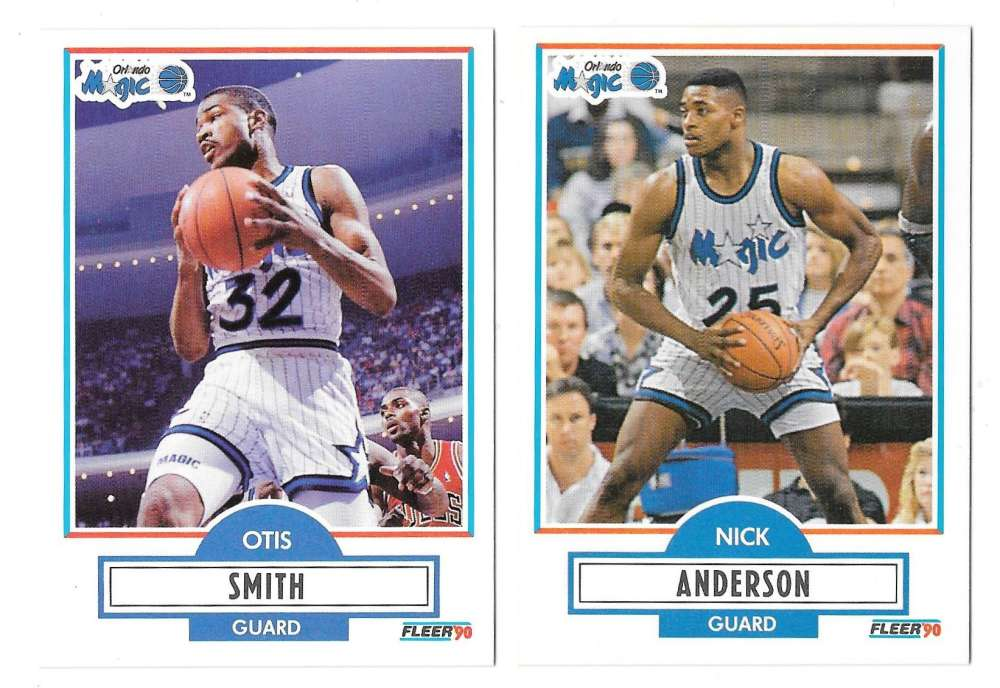 1990-91 Fleer Basketball Team Set - Orlando Magic