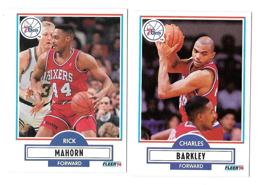 1990-91 Fleer Basketball Team Set - Philadelphia 76ers