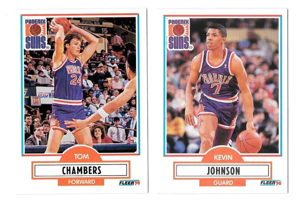 1990-91 Fleer Basketball Team Set - Phoenix Suns