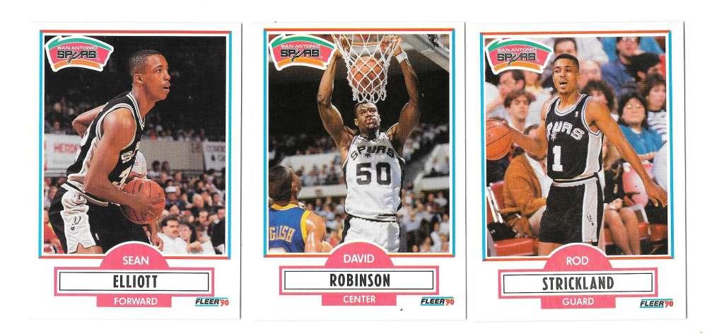 1990-91 Fleer Basketball Team Set - San Antonio Spurs