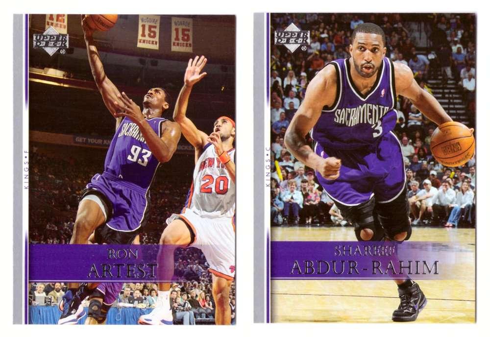 2007-08 Upper Deck (Base 1-200) Basketball Team Set - Sacramento Kings