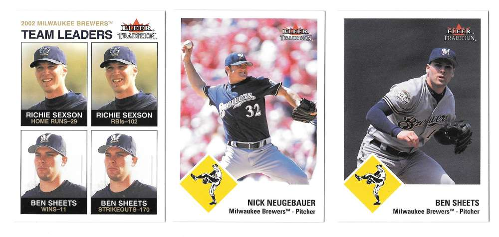 2003 Fleer Tradition (1-485) MILWAUKEE BREWERS Team Set