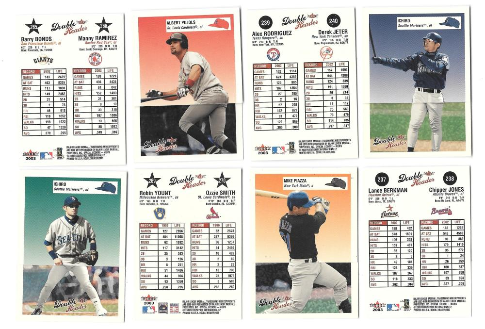 2003 Fleer Double Header - Players from Different Teams (21 cards)