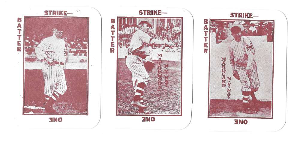 1913 National Game WG5 Reprints - NEW YORK GIANTS Team Set