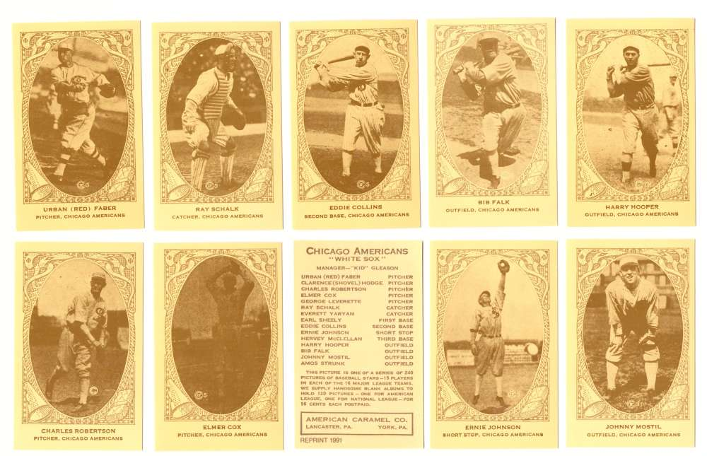 1922 American Caramel E120 Reprints - CHICAGO WHITE SOX Team Set