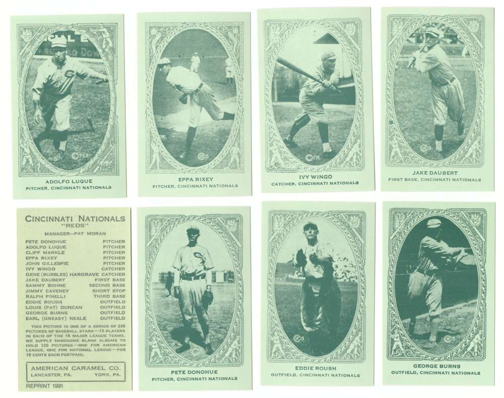 1922 American Caramel E120 Reprints - CINCINNATI REDS Team Set