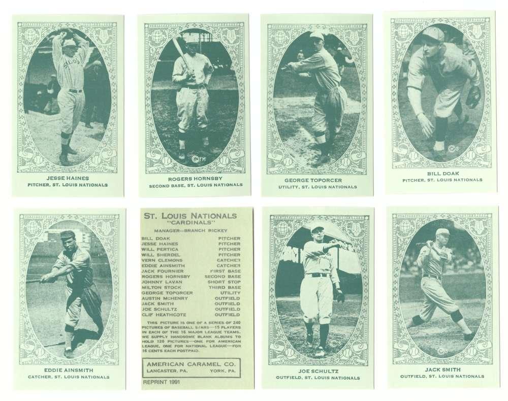 1922 American Caramel E120 Reprints - ST LOUIS CARDINALS Team Set