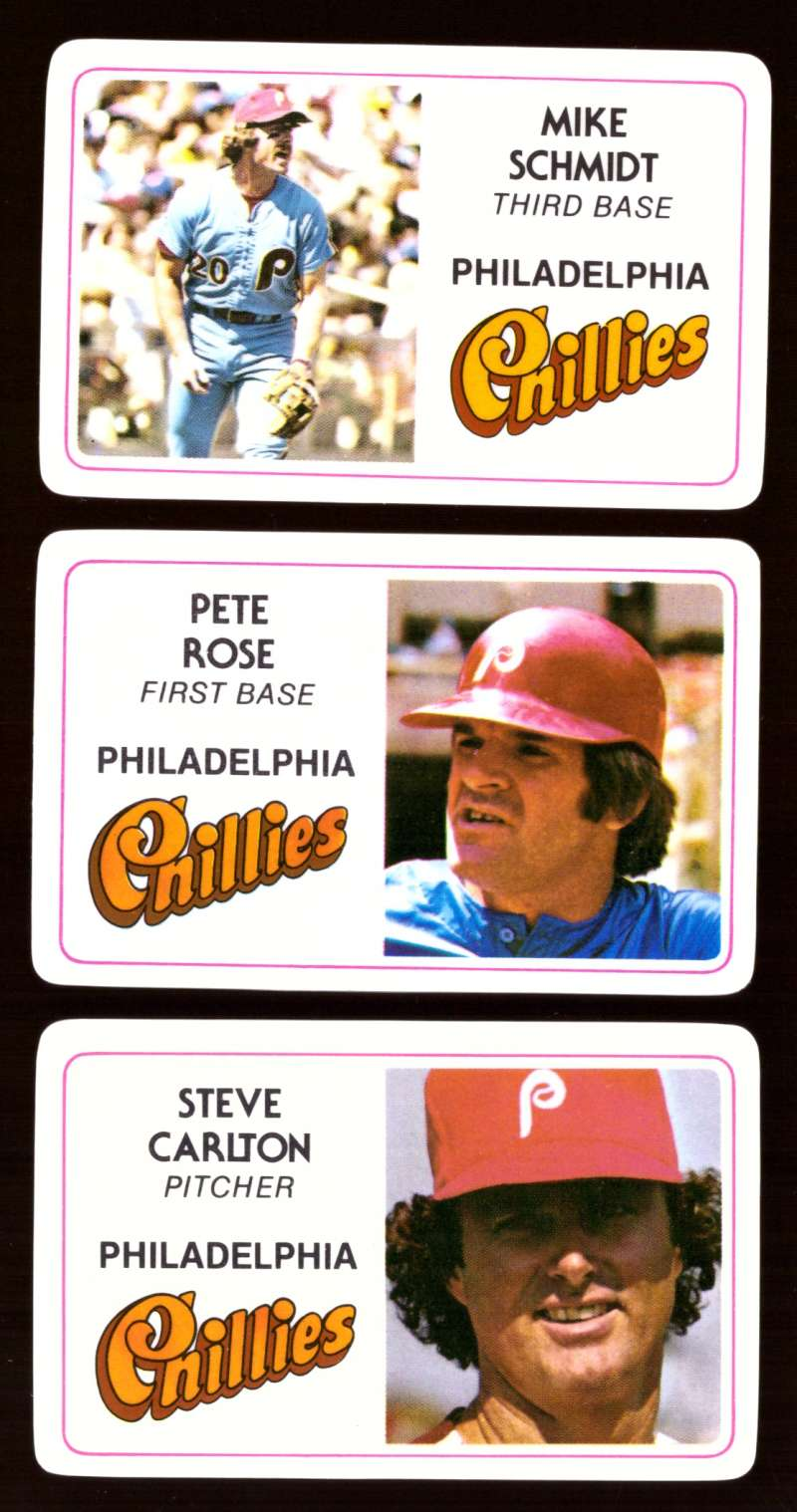 1981 Perma-Graphics Credit Cards - PHILADELPHIA PHILLIES Team Set