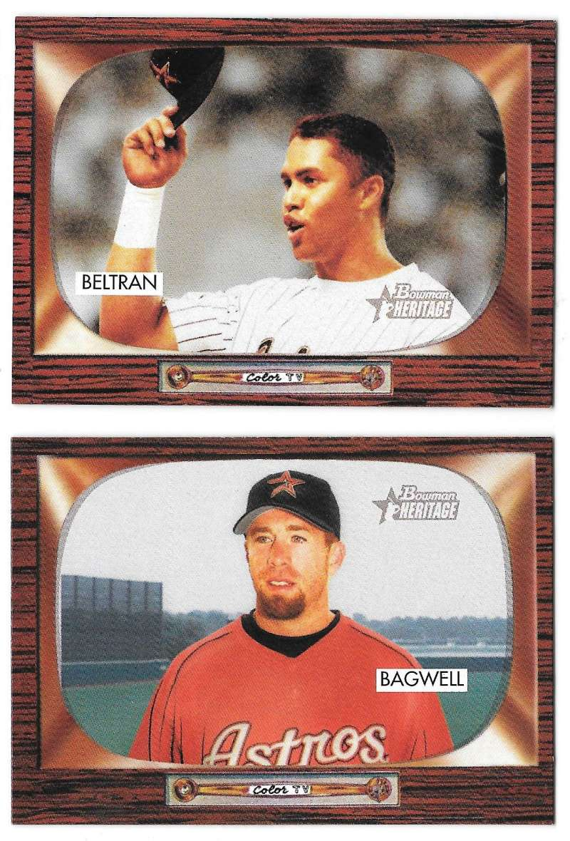 2004 Bowman Heritage (Base Set) - HOUSTON ASTROS Team Set