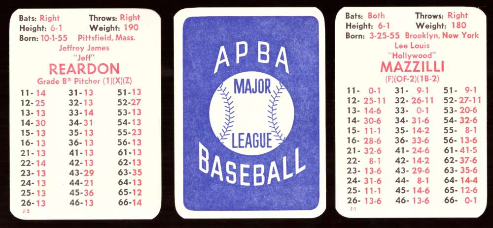 1980 APBA Season - NEW YORK METS Team Set