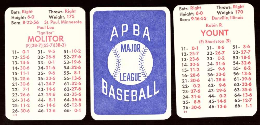 1980 APBA Season w/ EX players - MILWAUKEE BREWERS Team Set