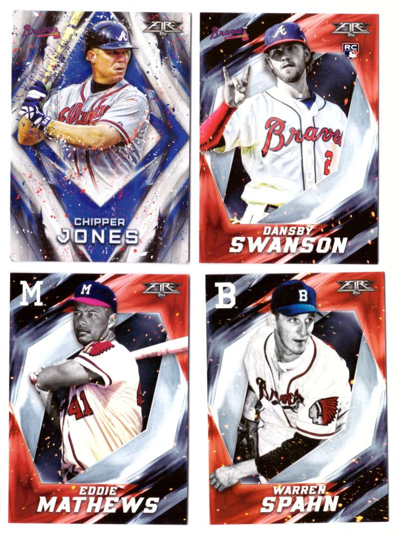 2017 Topps Fire - ATLANTA BRAVES Team Set