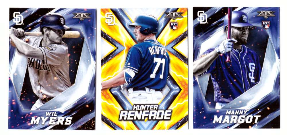 2017 Topps Fire - SAN DIEGO PADRES Team Set