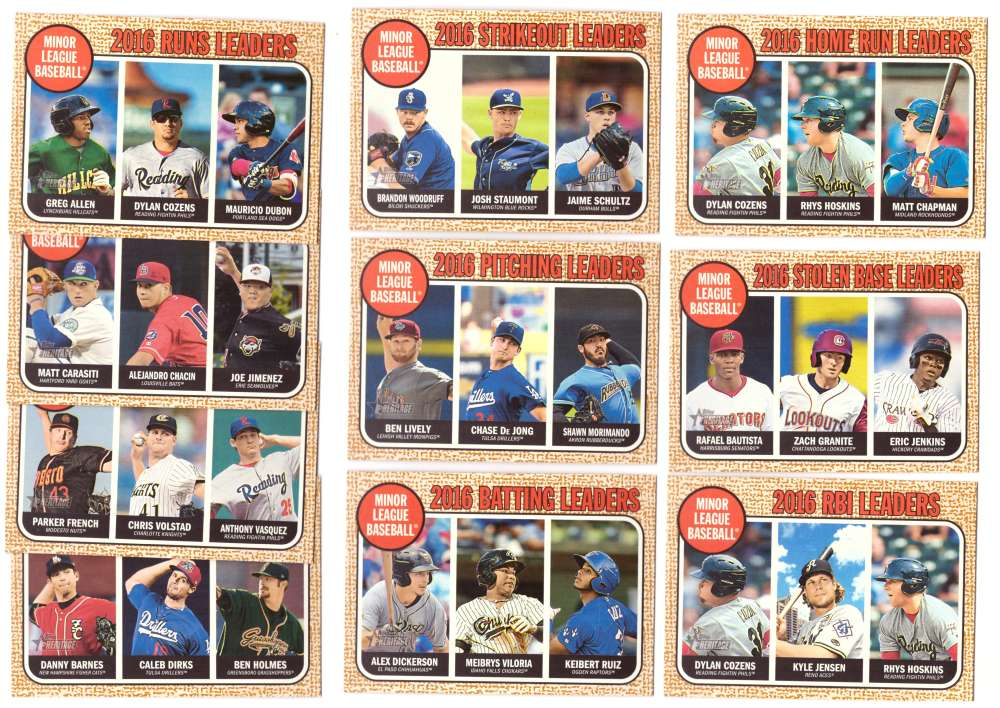 2017 Topps Heritage Minors League Leaders (10 cards)