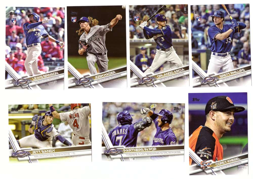 2017 Topps Update - MILWAUKEE BREWERS Team Set