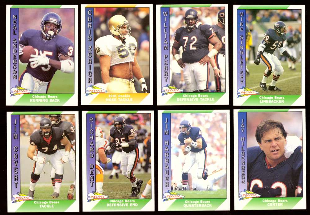 1991 Pacific (1-550) Football Team Set - CHICAGO BEARS