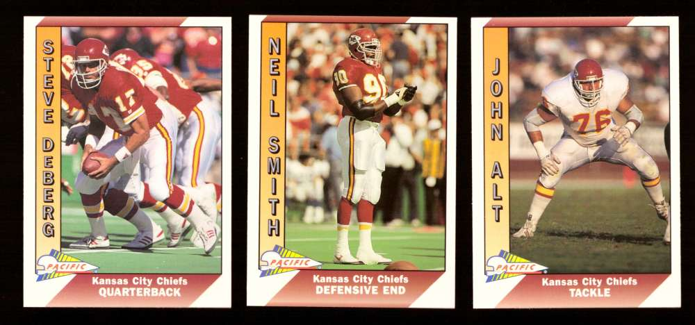 1991 Pacific (1-550) Football Team Set - KANSAS CITY CHIEFS