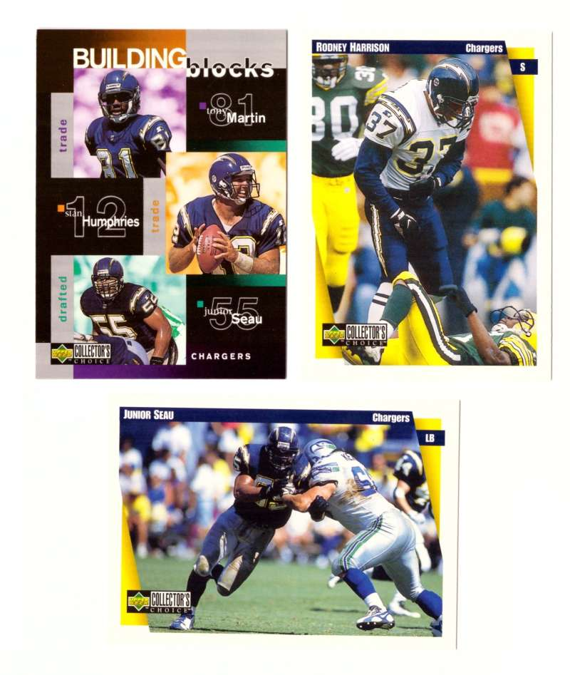 1997 Collector's Choice Football Team Set - SAN DIEGO CHARGERS