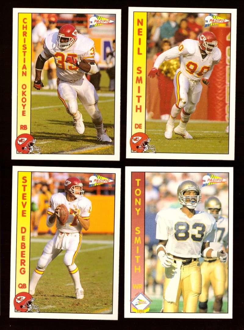 1992 Pacific Football Team Set - KANSAS CITY CHIEFS