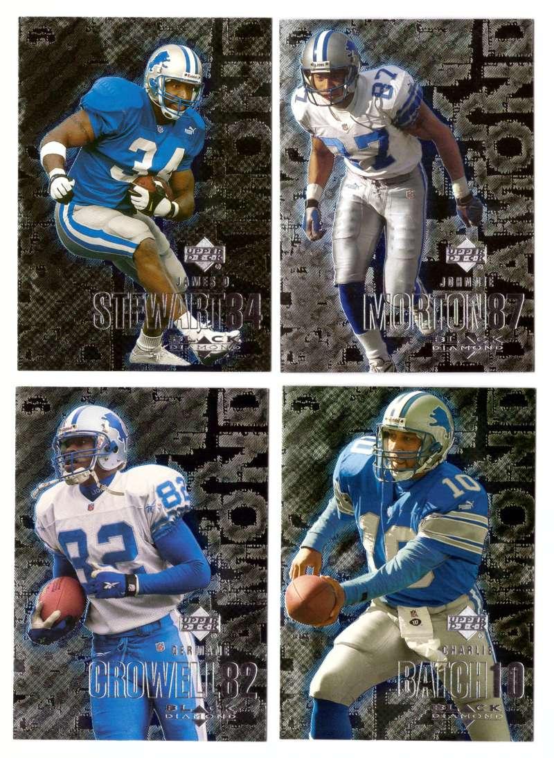 2000 Black Diamond (1-120) Football Team Set - DETROIT LIONS