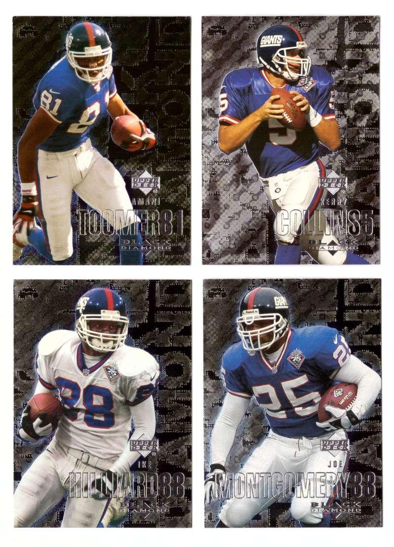 2000 Black Diamond (1-120) Football Team Set - NEW YORK GIANTS