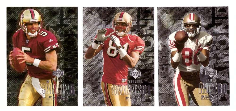 2000 Black Diamond (1-120) Football Team Set - SAN FRANCISCO 49ERS