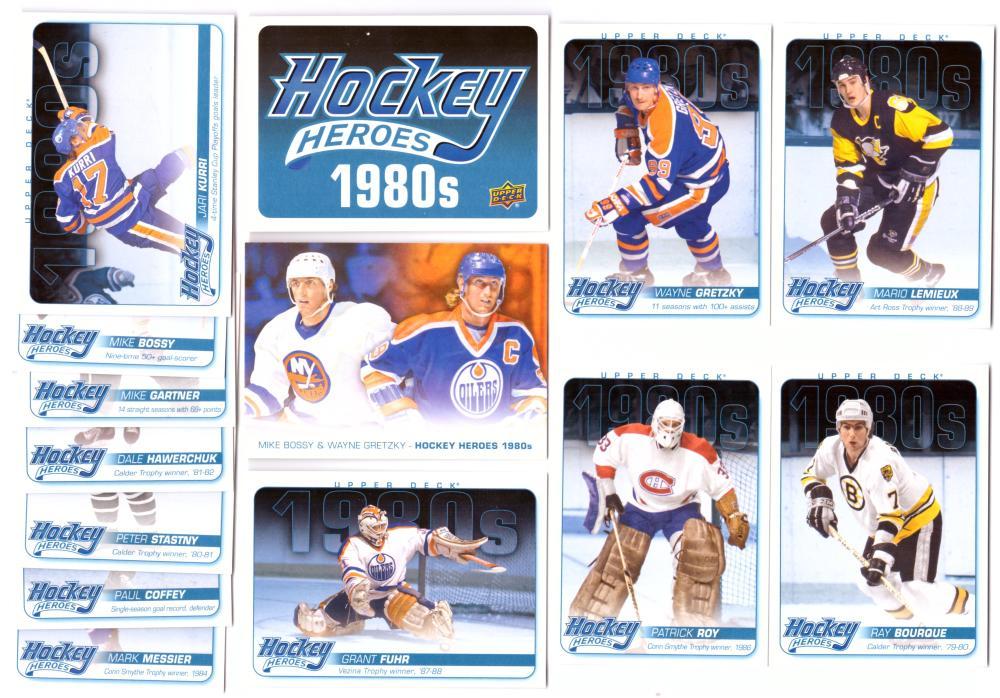 2012-13 Upper Deck Hockey Heroes I980s ('80's) Set 14 cards