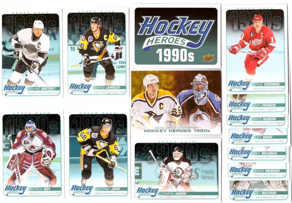 2013-14 Upper Deck Hockey Heroes '90's Set 14 cards