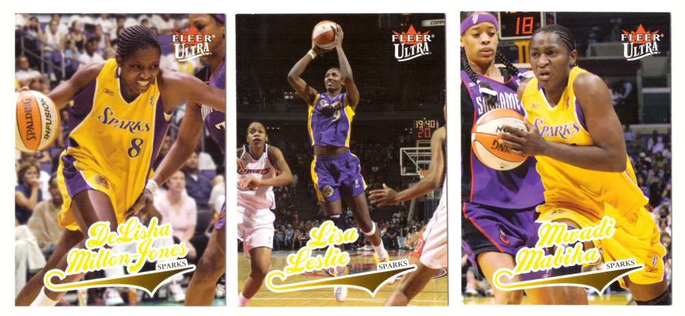 2004 Ultra WNBA (Base 1-90) Basketball Team Set - Los Angeles Sparks