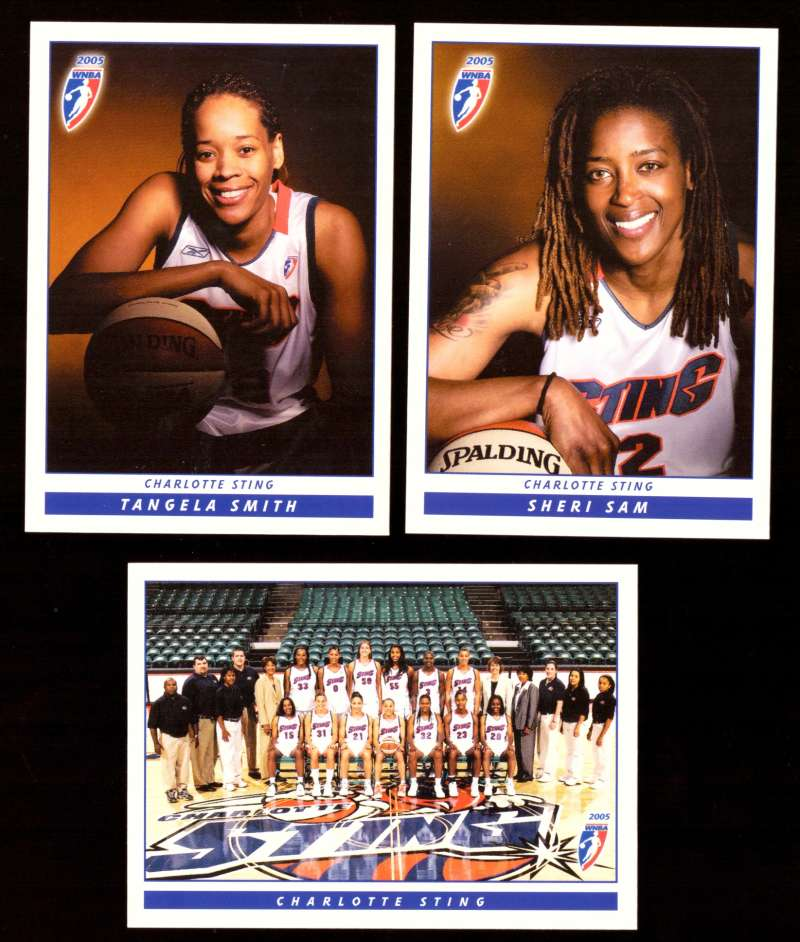 2005 WNBA Basketball Team Set - Charlotte Sting