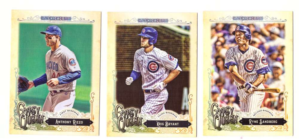 2017 Topps Gypsy Queen (1-320) - CHICAGO CUBS Team Set