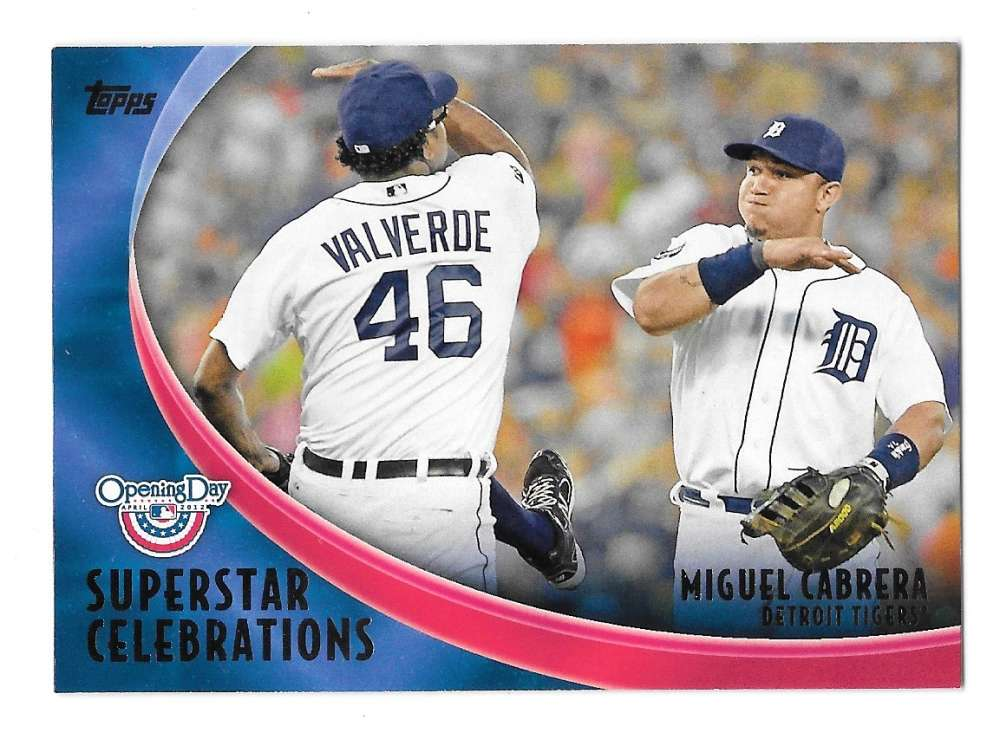2012 Topps Opening Day Superstar Celebrations - DETROIT TIGERS