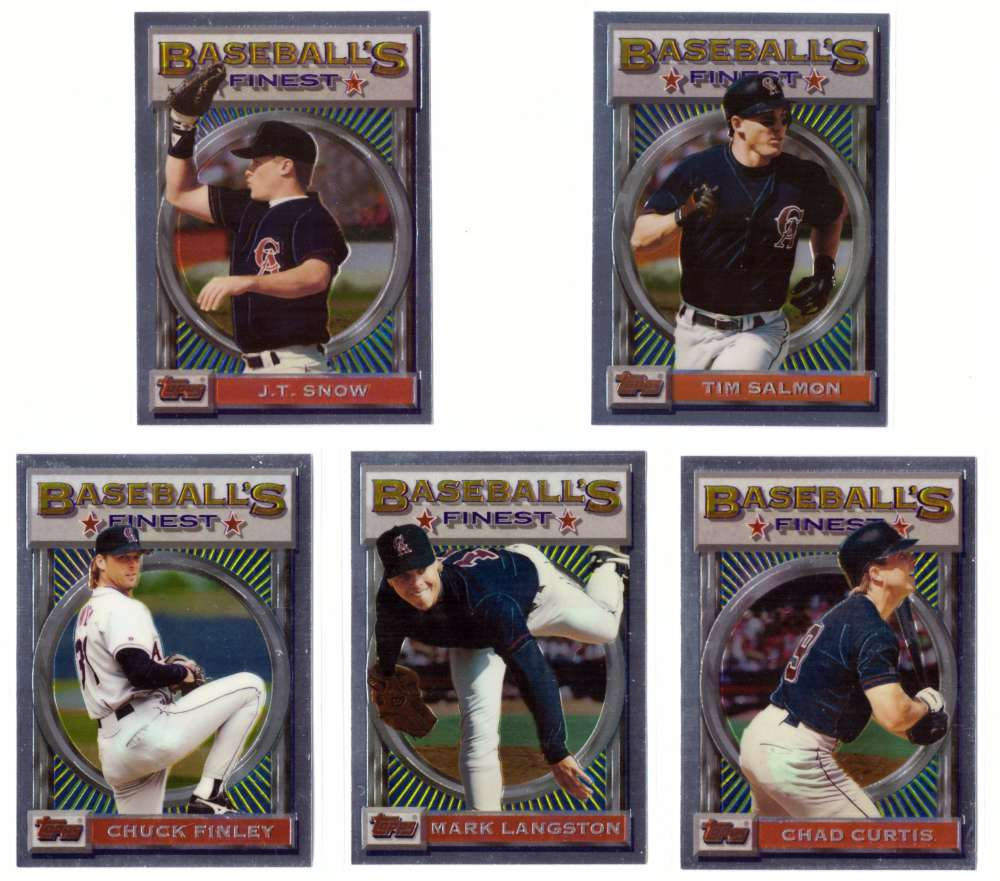 1993 FINEST - CALIFORNIA ANGELS Team Set