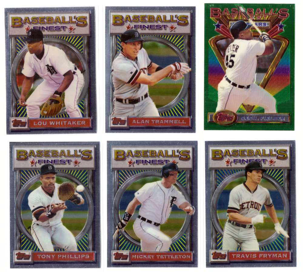 1993 FINEST - DETROIT TIGERS Team Set