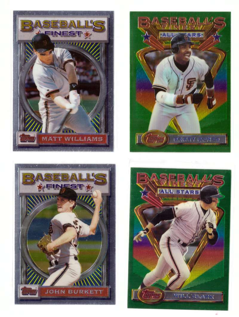 1993 FINEST - SAN FRANCISCO GIANTS Team Set