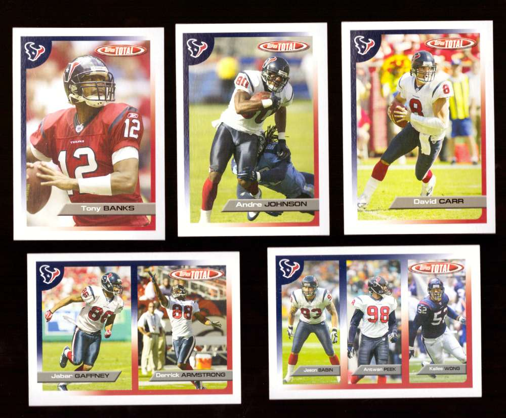 2005 Topps Total Football Team Set - HOUSTON TEXANS