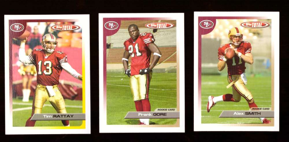 2005 Topps Total Football Team Set - SAN FRANCISCO 49ERS