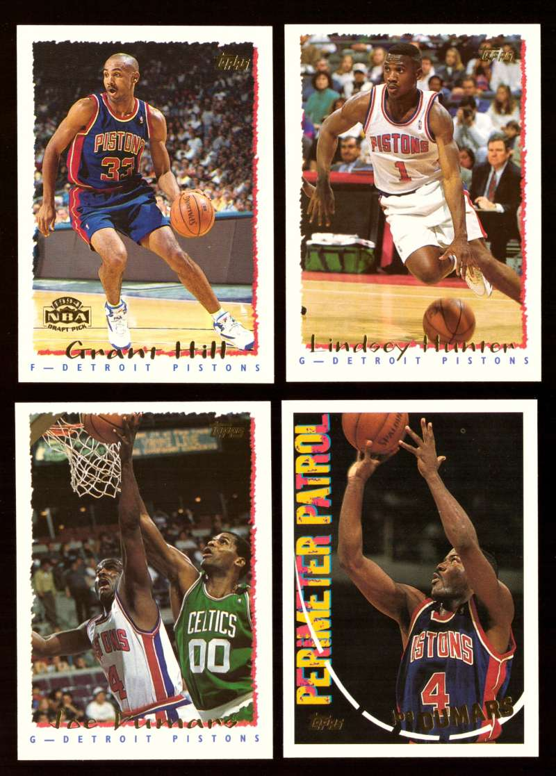1994-95 Topps Basketball Team Set - Detroit Pistons