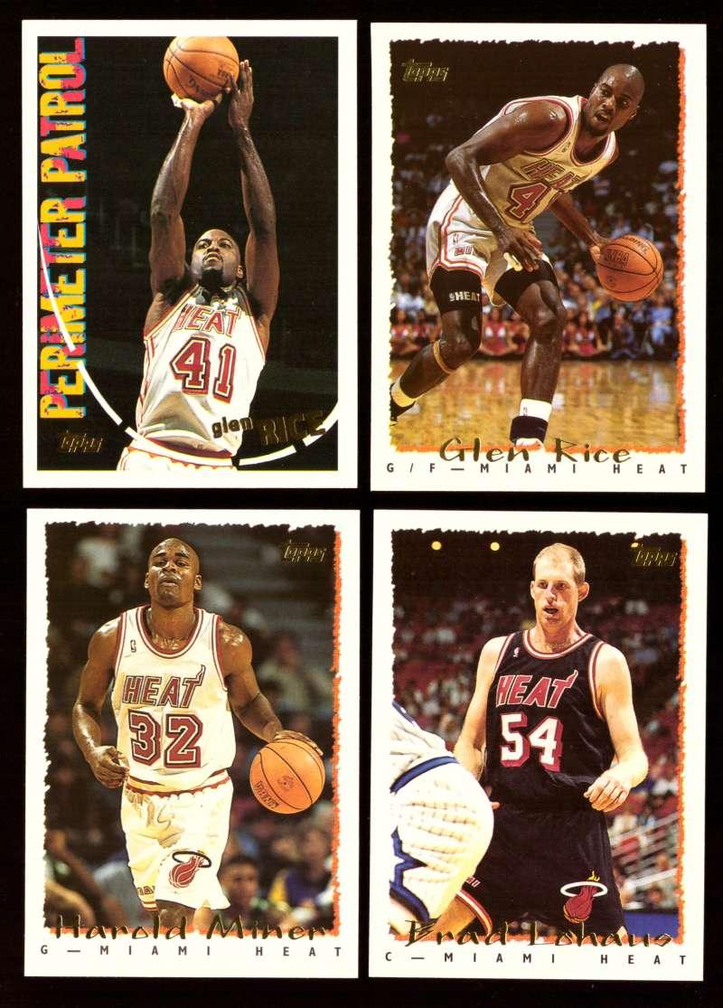 1994-95 Topps Basketball Team Set - Miami Heat