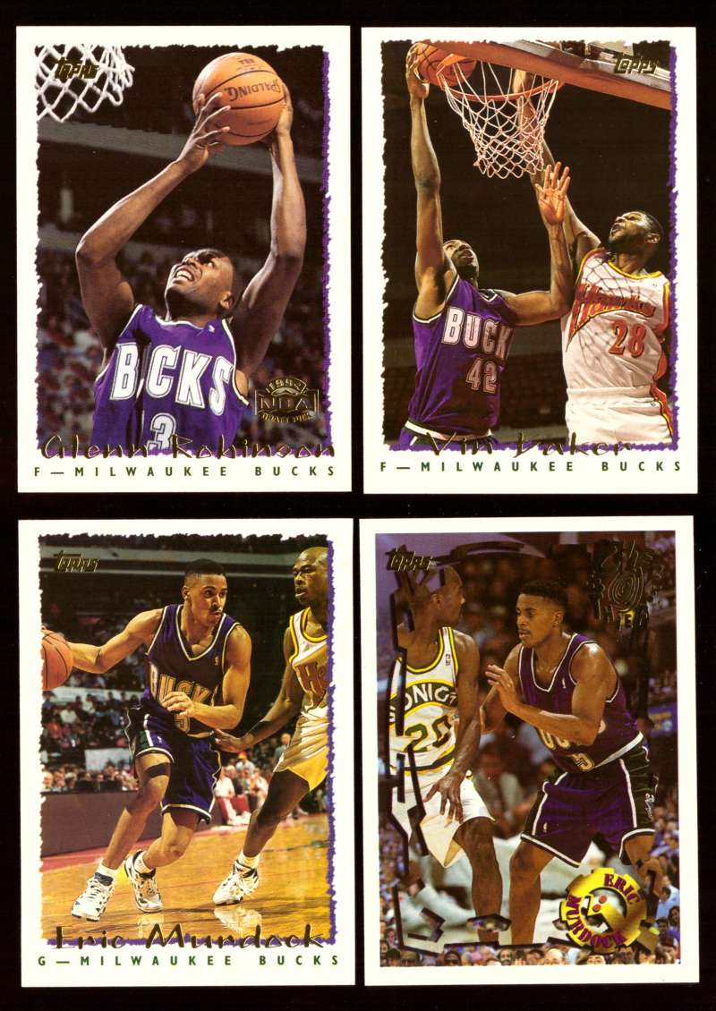 1994-95 Topps Basketball Team Set - Milwaukee Bucks