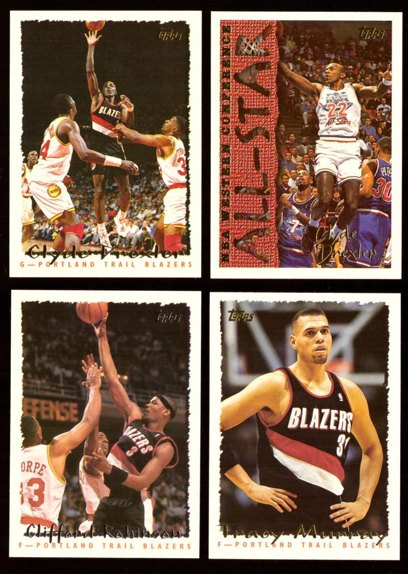 1994-95 Topps Basketball Team Set - Portland Trail Blazers