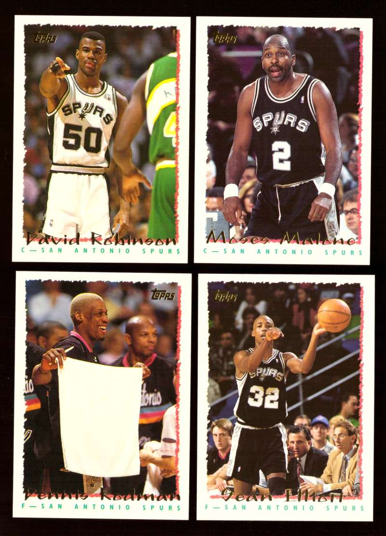 1994-95 Topps Basketball Team Set - San Antonio Spurs