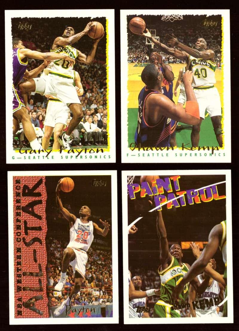 1994-95 Topps Basketball Team Set - Seattle Supersonics